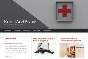 """Screenshot des Kunstblogs """"KunstArztPraxis""""."""